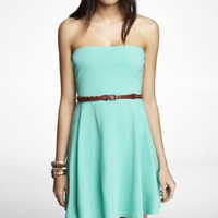 STRAPLESS STRETCH COTTON SKATER DRESS