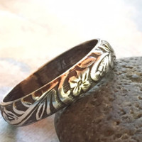 Celtic Ring Knot Pattern Ring in Sterling Silver