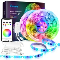 Dreamcolor 32.8FT LED Strip Lights RGBIC, Govee WiFi Wireless Smart Phone Controlled Led Light Strip 5050 LED Lights Sync to Music, Work with Alexa, Google Assistant, Android iOS (Not Support 5G WiFi) 32.8 FT