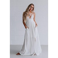 Aranza Lace Bralette Maxi Dress - Ivory