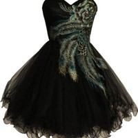 Metallic Peacock Embroidered Holiday Party Homecoming Prom Dress, 3X, Lime