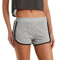 Gray Combo French Terry Dolphin Shorts by Charlotte Russe