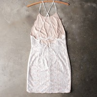 in the spotlight scallop edge lace dress - ivory