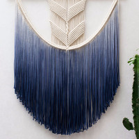Handmade Dyed Macrame Wall Decoration