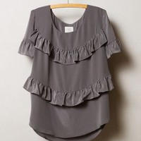 Tiered Midi Top by HD in Paris Grey
