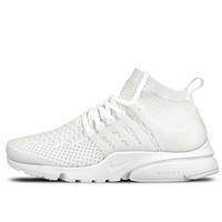 Nike Air Presto Popular Women Men Casual Knit Breathable Sport Shoe Sneakers Pure White I-CSXY
