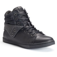 Apt. 9 Men's Fold-Over High-Top Sneakers (Black)