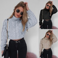 Soft Knit Women's Fashion Long Sleeve Sweater [106350379023]