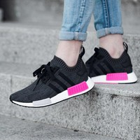 Best Online Sale Adidas NMD R1 PK - ESSENTIAL PINK BB2364 Boost Sport Running Shoes Classic Casual Shoes Sneakers