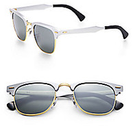 Ray-Ban - Clubmaster Mirrored Lens Sunglasses  - Saks Fifth Avenue Mobile