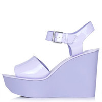 WEDDING Two-Part Wedge Sandals - Purple