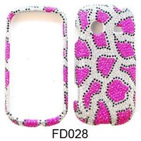 CRYSTAL STONES COVER CASE FOR SAMSUNG CHARACTER R640 PINK LEOPARD