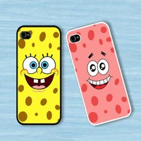 Spongebob and Patrick Star Face :Case For Iphone 4,5/Samsung S2,3,4