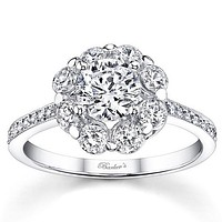 Barkev's Flower Halo Diamond Engagement Ring