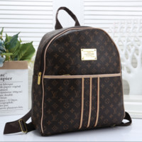Louis Vuitton Women Fashion Leather School Bookbag Backpack