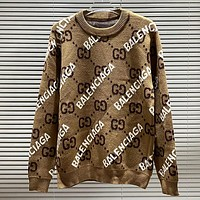 GG men's and women's knitted jacquard double G long-sleeved sweater