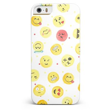 The All Over Emoji Pattern iPhone 5/5s or SE INK-Fuzed Case