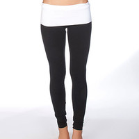 Fold Over Yoga Pant Leggings | Sexy Clothes Womens Sexy Dresses Sexy Clubwear Sexy Swimwear | Flirt Catalog