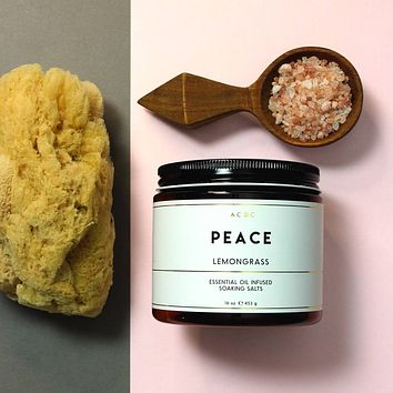 Peace Lemongrass Essential Oil Bath Soaking Salts