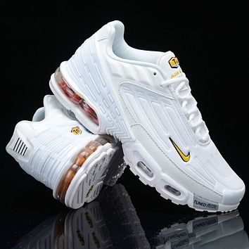 Nike Air Max Plus III New fashion hook couple running shoes White