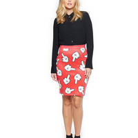 Haters Gonna Hate Scuba Pencil Skirt