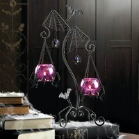 Halloween Spider Web Duo Tealight Candle Holder