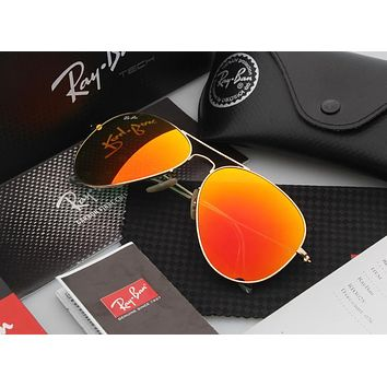 Aviator Sunglass Orange Mirrored RB 3025 112/69