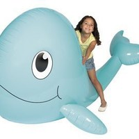 "Giant Inflatable Whale. 6 ft. x 54"" x 4 ft. Vinyl."