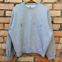 Vintage 90s Nike Sweatshirt Pullover L Size