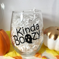 Halloween wine glass, Holiday gift, Halloween party prep