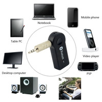 Bluetooth Music Audio Stereo Adapter Receiver for Car AUX IN Home Speaker MP3 (Color: Black) = 5617781441