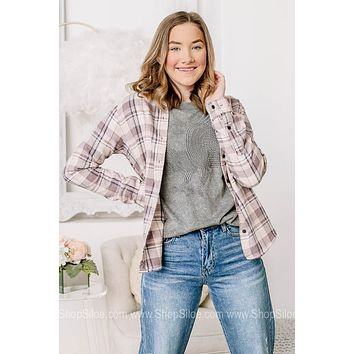 Lets Talk Layers Flannel Button Up Top