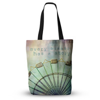 """Sylvia Cook """"Every Summer Has a Story"""" Everything Tote Bag"""
