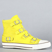 The Virgin Sneaker in Yellow Denim