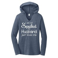 Not Spoiled Husband Loves Me Ladies Hooded Shirt Valentines Day Wife Gift Tee