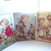3 1950's Whitmen Frame Tray Puzzles Large Size Vintage With Box