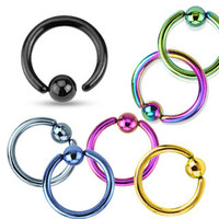 Captive Hoop Fixed Ball Cartilage Tragus Daith Septum Ring Body Jewelry 16ga Surgical Stainless Steel Piercing Jewelry