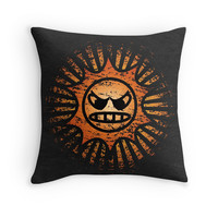 'Angry Sun' Throw Pillow by likelikes