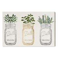 Oliver Gal Mason Jars & Plants Canvas Wall Art | Nordstrom