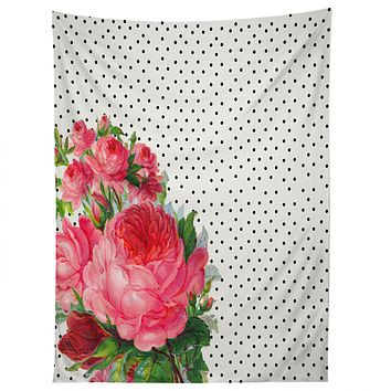 Allyson Johnson Floral Polka Dots Tapestry