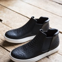 Harlan slip on Sneaker, Black/Snake  | Coconuts By Matisse