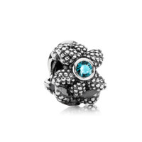 PANDORA | Sea star, turquoise synthetic spinel