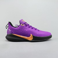 Nike Manba Focus EP Purple Gold Black Men Basketball Shoes