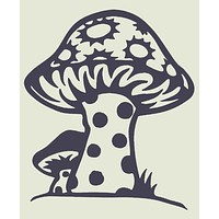 Shroom Cutout Decal - Purple
