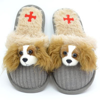 Cavalier King Charles Spaniel Slippers by Fuzzy Nation
