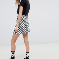 Vans X Lazy Oaf Checkerboard Skirt at asos.com