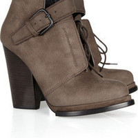 Alexander Wang Luca nubuck leather ankle boots - 60% Off Now at THE OUTNET