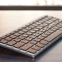 Engrain Tactile Keys - Naturally textured wooden stickers for Apple Keyboards - Compact size (Wireless)