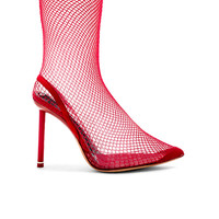 Alexander Wang Stretch Mesh Caden Heels in Red | FWRD