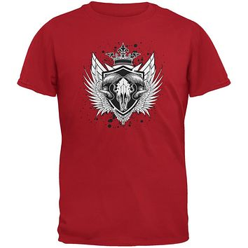 Ram Skull Red Youth T-Shirt